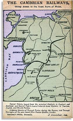 Cambrian Railways map