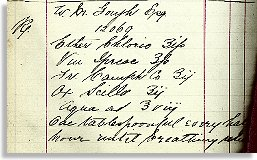Prescription for W M Gough Esq.